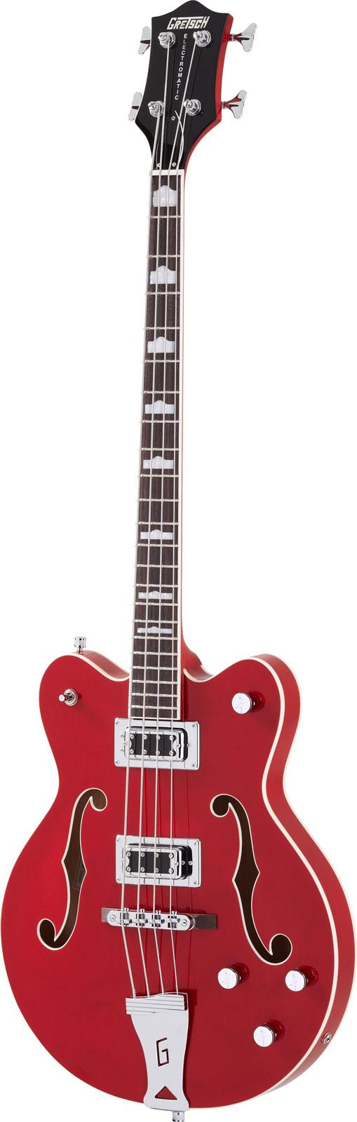 Gretsch G5442BDC Electromatic Hollowbody Short Scale Bass Red
