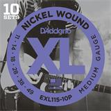 D'Addario EXL115-10PQS Blues Jazz Rock 10 Sets