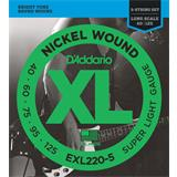 D'Addario EXL220-5 Super Light 5-String 40-125