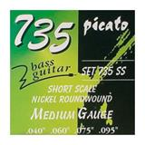 Picato 735-SS - nickel roundwound, 040-060-075-095 shortscale