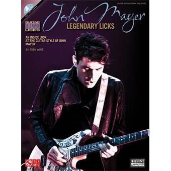 Hal Leonard John Mayer Legendary Licks Guitar tablature guitare électrique