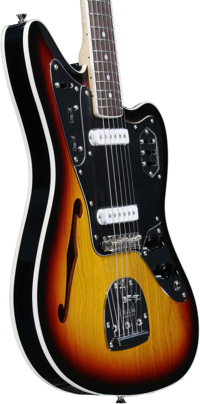 fender jaguar thinline special edition 3 tone sunburst | keymusic