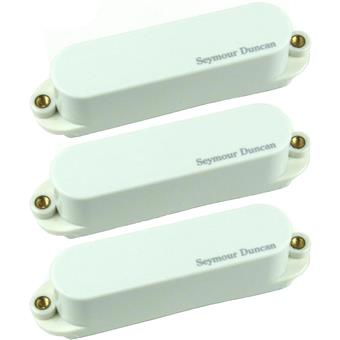 Seymour Duncan AS1S Blackouts Single Strat Set White set micro guitare électrique