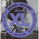 D'Addario EXL115-3D Blues Jazz Rock 3 Sets