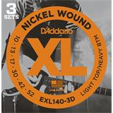 D'Addario EXL140-3D Light Top Heavy Bottom 3 Sets