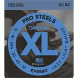 D'Addario EPS590 ProSteels Jazz Light 12-52