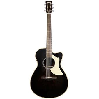 Yamaha AC1R LTD Limited Edition Transculent Black acoustic-electric cutaway orchestra guitar