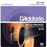 D'Addario EJ13 Bronze Acoustic Guitar Strings Custom Light 11-52