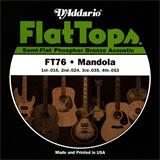 D'Addario FT76 Mandola Flat Tops Phosphor Bronze 16-53