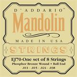 D'Addario EJ70 Phosphor Bronze Ball End Mandolin Strings 11-38