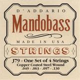 D'Addario J79 Copper Mandobass Strings 49-130