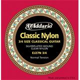 D'Addario EJ27N 3/4 Normal Tension Student Classical Guitar
