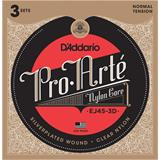 D'Addario EJ45-3D Normal Tension Pro Arte Classical Guitar 3-Pack