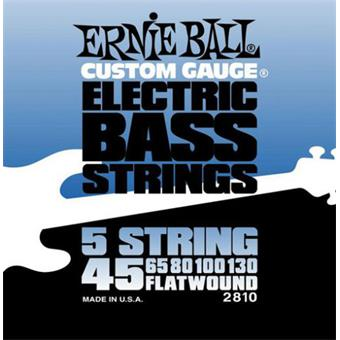 Ernie Ball 2810 Flatwound Bass 5-String flatwound bassnarenset