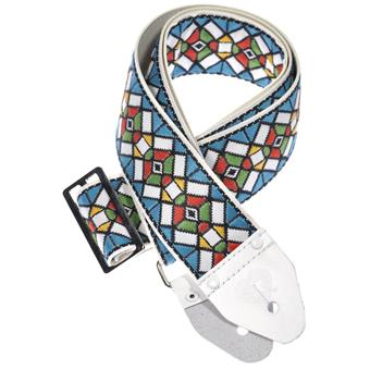 Souldier Stained Glass Blue guitar strap