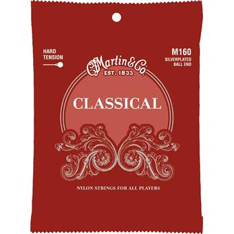 Martin Strings M160 Classical Hard Tension Ball End paquet cordes standard guitare classique