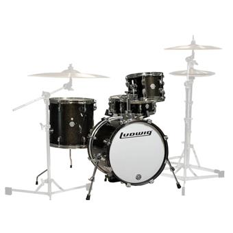 Ludwig LC179X016 Breakbeats By Questlove Black Sparkle jazz shell kit