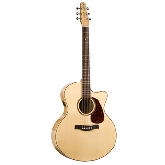 Seagull Performer CW MJ Flame Maple HG QIT acoustic-electric cutaway orchestra guitar