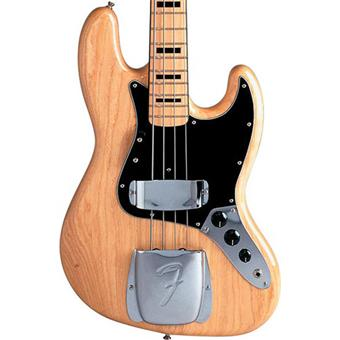Fender American Vintage 75 Jazz Bass Natural Maple 4 string bass guitar