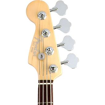 Fender American Deluxe Jazz Bass 3-Color Sunburst RW Left left handed bass guitar