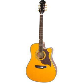 Epiphone FT-350SCE Antique Natural acoustic-electric cutaway dreadnought guitar