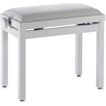 Stagg PB39 Piano Bench Highgloss White White Velvet Top pianobankje/stoel