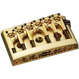 Schaller 3D-6 GO Flatmount Guitar Bridge Gold