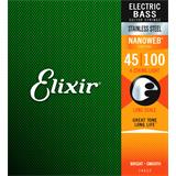 Elixir 14652 Stainless Steel 4-String Light Long Scale 45-100