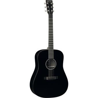 Martin DXAE Black acoustic-electric dreadnought guitar