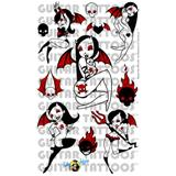 Slikz Guitar Tattoo Lil Devil Girls