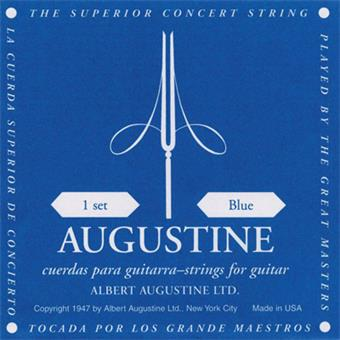 Augustine Blue Hard Tension paquet cordes standard guitare classique