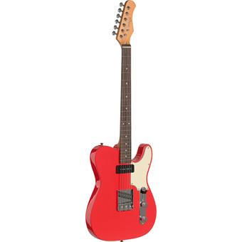 Stagg SET-CST Vintage Custom T Fiesta Red guitare électrique