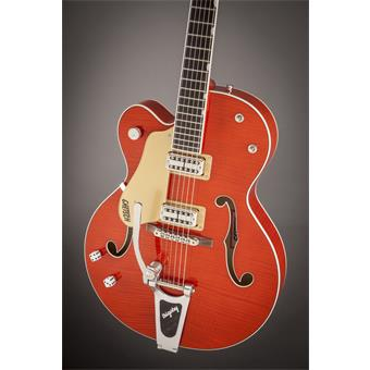 Gretsch G6120SSULH Brian Setzer Nashville Orange Left Handed guitare électrique gaucher