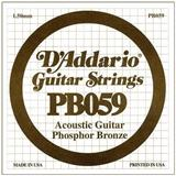 D'Addario PB 059 - Phosfor Bronze wound '059 - Acoustic Guitar Single String