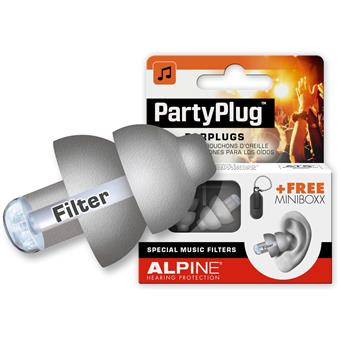 Alpine PartyPlug Silver Grey protection auditive