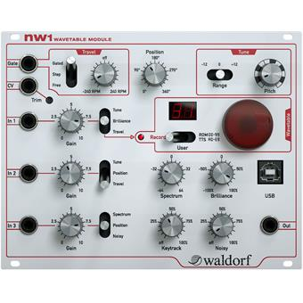 Waldorf NW1 Wavetable Module modular synthesizers