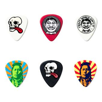 Dunlop Van Hammersfeld Johnny Face Pick Tin 6-Pack signature pick