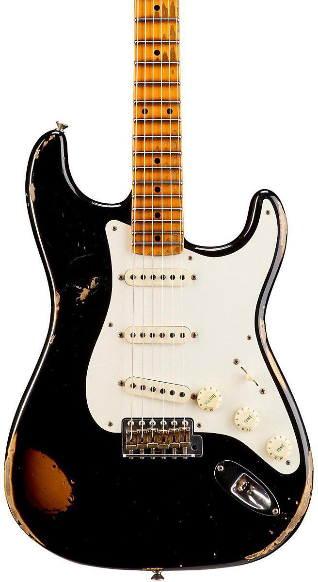 Fender Custom Shop 1957 Heavy Relic Stratocaster Faded Black over 2 ...