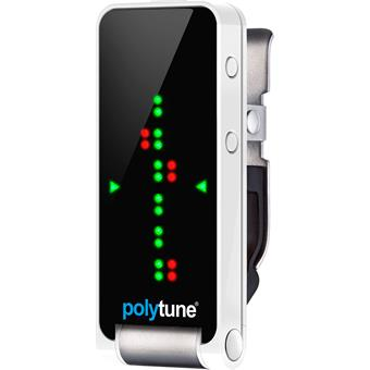 TC Electronic Polytune Clip White clip-on tuner