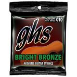 GHS BB10U Ultra Light Bright Bronze Acoustic Guitar Strings