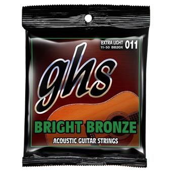 GHS BB20X Extra Light Bright Bronze Acoustic Guitar Strings paquet cordes .011 guitare acoustique