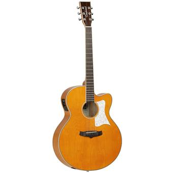 Tanglewood TSJV 3 Evolution Viscount Trans Orange jumbo gitaar