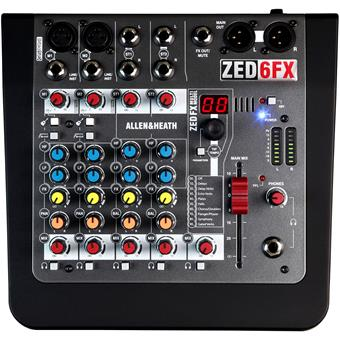 Allen & Heath ZED-6FX analoge mixer
