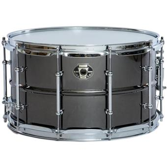Ludwig LW0814C Black Magic Chrome stalen snaredrum