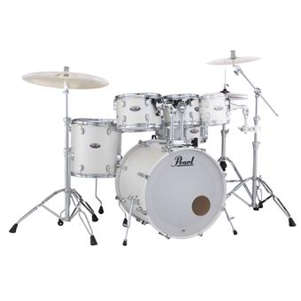 Pearl DMP925F/C229 Decade Maple Series White Satin Pearl fusion drum kit