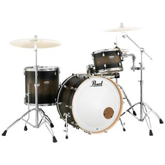 Pearl DMP925F/C262 Decade Maple Series Satin Black Burst fusion drum kit