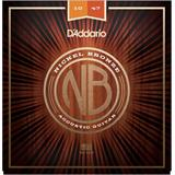 D'Addario NB1047 Nickel Bronze Acoustic Guitar Strings Extra Light 10-47