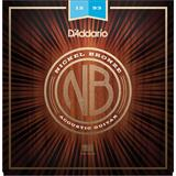 D'Addario NB1253 Nickel Bronze Acoustic Guitar Strings Light 12-53