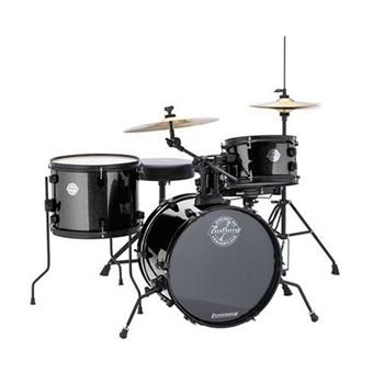 Ludwig LC178X016DIR Pocket Kit Black Sparkle starter drum kit