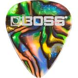 Boss BPK-12-AT  Medium Celluloid Guitar Picks - Abalone - 12 Pack